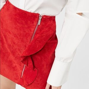 Genuine Leather mini skirt
